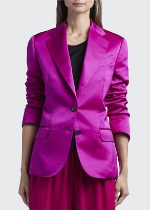 Tom Ford Duchess Satin Blazer Jacket
