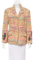 Christian Lacroix Tweed Notch-Lapel Blazer