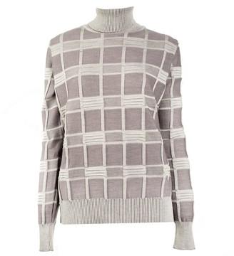 Woolish Mina High Neck Merino Sweater Purple Fog