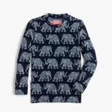 J.Crew Girls' rash guard in elephant print
