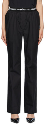 Alexander Wang Black Pull-On Pleated Lounge Pants