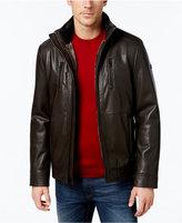 Calvin Klein Men's Faux-Leather Faux-Fur Lined Jacket, a Macy's Exclusive Style