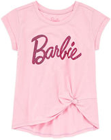 Barbie Scoop Neck Short Sleeve Fitted Sleeve Blouse - Big Kid Girls