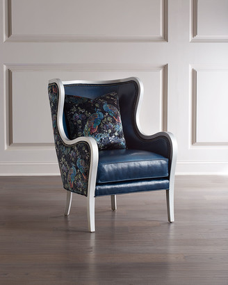 Massoud Bishop Leather Wing Chair