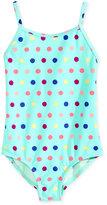 Roxy 1-Pc. Rainbow Dot-Print Swimsuit, Little Girls (2-6X)