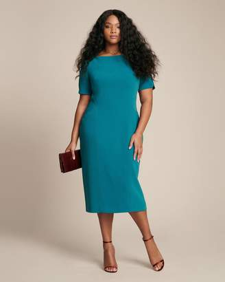 Zac Posen Short Sleeve Fitted Cocktail Dress