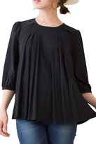 Sweet Mommy Maternity and Nursing A-line Georgette Blouse BKL