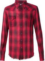 Saint Laurent classic plaid shirt