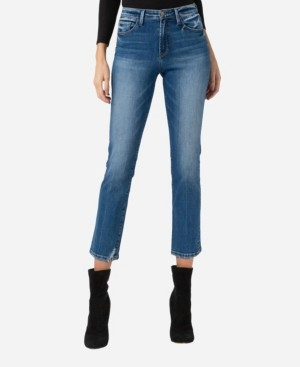 Flying Monkey Mid Rise Slim Straight Crop Jeans