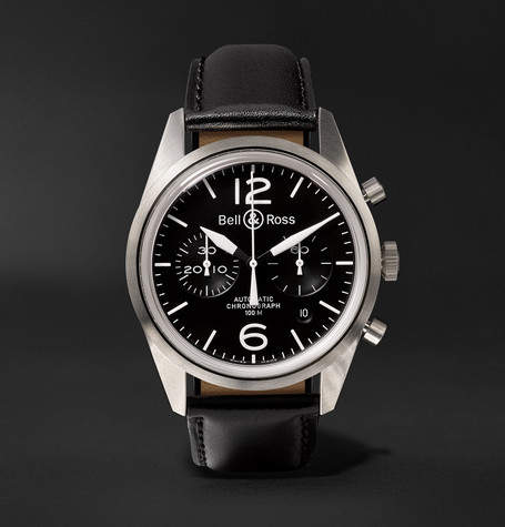 Bell & Ross Br 126 Automatic Chronograph 41mm Steel And Leather Watch
