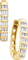 DazzlingRock Collection 1/4 Total Carat Weight DIAMOND FASHION HOOPS