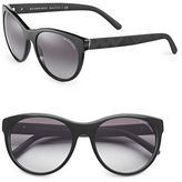 Burberry 56mm Round Cat's-Eye Sunglasses