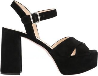 Prada Crossover Platform Sandals