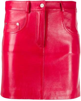 Manokhi High-Waist Leather Skirt