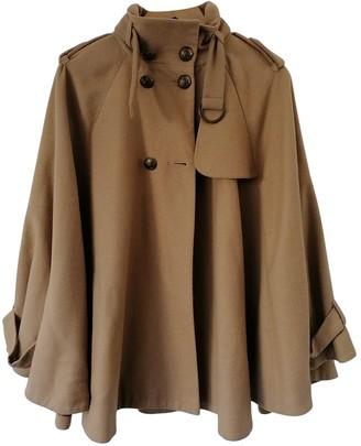 Topshop Tophop Camel Wool Coat for Women