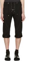 Balmain Black Lace-Up Lounge Shorts