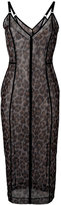 Christopher Kane leopard-print dress - women - Nylon/Spandex/Elastane - M