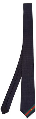 Gucci Silk-jacquard Bee Tie - Navy