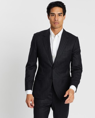 Gieves And Hawkes Chalkstripe Wool Flannel Suit Jacket