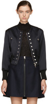 3.1 Phillip Lim Navy Pearls Bomber Jacket