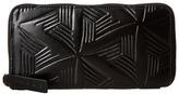 Marni Flower Embossed Calf Leather Card Wallet Wallet Handbags