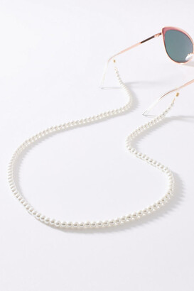 Anthropologie Effie Pearl Sunglasses Chain By in White