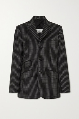Maison Margiela Wool-blend Jacquard Blazer - Black