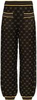 Gucci GG logo metallic wool blend track pants
