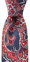 Roundtree & Yorke Trademark Bold Paisley Traditional Silk Tie