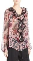 Chloé Women's Floral Print Silk Crepon Blouse