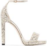 Jimmy Choo Misty 120mm glitter sandals