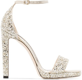 Jimmy Choo Misty 120mm glitter sandals