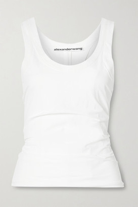 Alexander Wang Ruched Stretch-shell Tank - White
