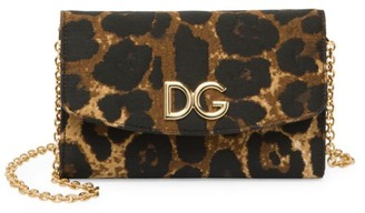Dolce & Gabbana Micro Leopard-Print Wallet-On-Chain