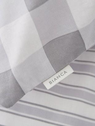 Bianca Cottonsoft Bianca Grey Stripe Fitted Sheet