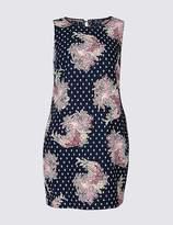 Marks and Spencer CURVE Linen Blend Floral Print Tunic Dress