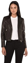 AllSaints Dalby Biker (Black) Women's Clothing