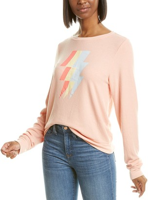 Wildfox Couture Baggy Beach Jumper Tri-Bolt Sweatshirt