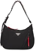 Prada studded hobo bag