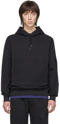 C.P. Company Black Diagonal Fleece Hoodie