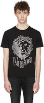 Versus Black Eyelet Lion T-shirt