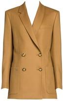 Fendi Birdseye Wool Double-Breasted Blazer
