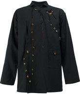 Yohji Yamamoto charm embellished jacket - men - Cotton/Linen/Flax - 3