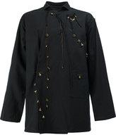 Yohji Yamamoto charm embellished jacket - men - Cotton/Linen/Flax - 4
