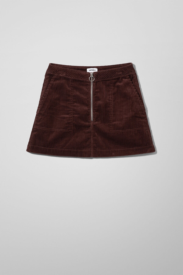 Thumbnail for your product : Weekday Piet Mini Skirt - Brown
