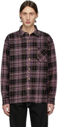 Noon Goons Black and Pink Denim Check Snap Shirt