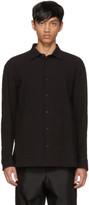 Issey Miyake Black Shrink Stripe Shirt