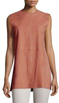 Joseph Sleeveless Suede Tunic, Rose