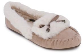Nautica Clearwater Fold Faux Fur Slippers Women's Shoes