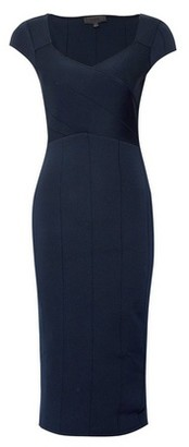 Dorothy Perkins Womens Luxe Navy Knitted Bodycon Dress